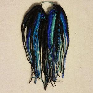 Blue black sky  handmade dread fall, halloween wig
